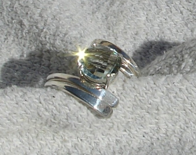 Green Amethyst Twist Ring