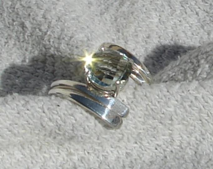 Green Amethyst Twist Ring