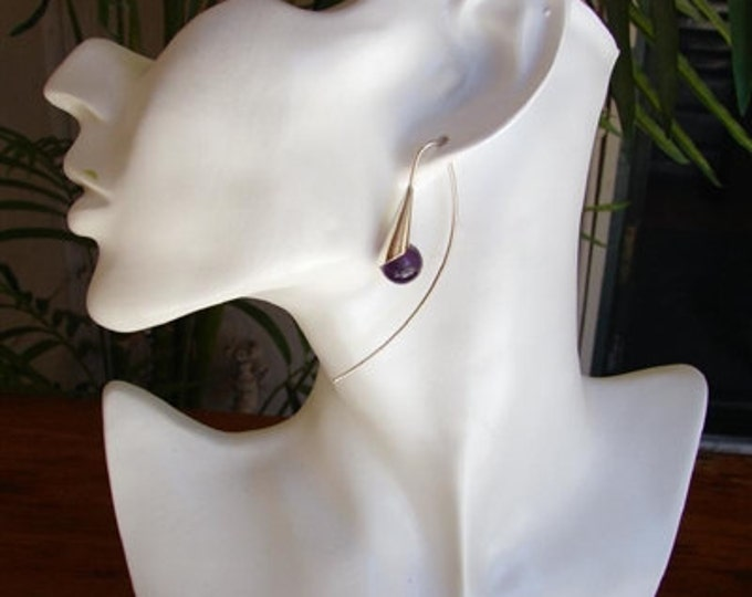 Amethyst Dew Drop Earrings