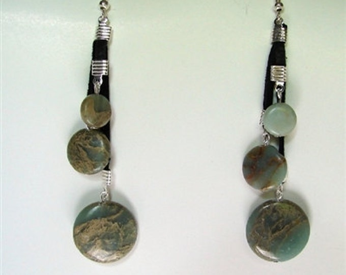 Aqua Tera Jasper Earrings