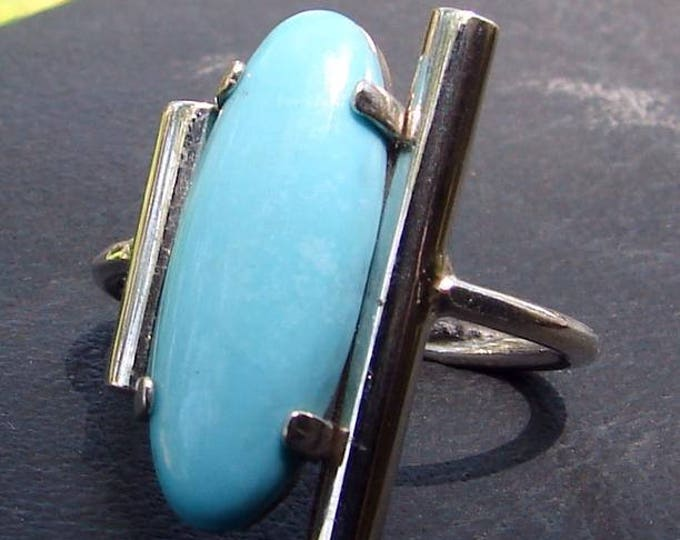 Turquoise long Cabochon Ring