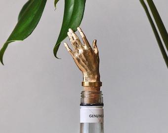 Bottle Stopper Hand Wine  Bottle stopper gold color Golden Bottle cork