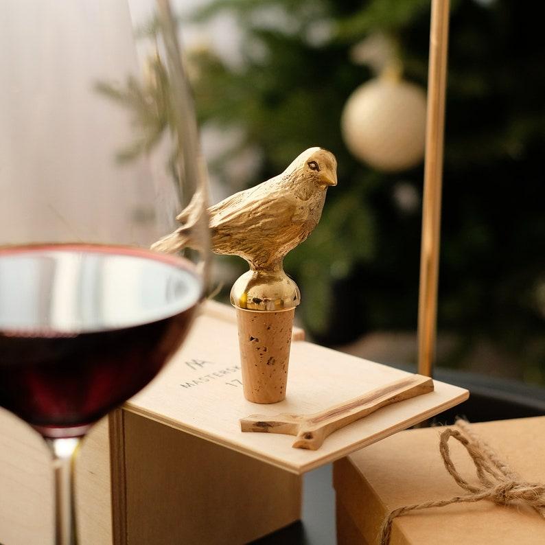Bottle Stopper Bird. Wine stopper. Bottle cork image 0