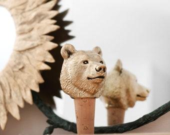 Bottle stopper Bear Wine cork Bottle cork Christmas gift bear Wine stopper