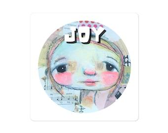 Joy Sticker   Robin Liefeld   Big Eyes   Cute Girl Laptop Sticker