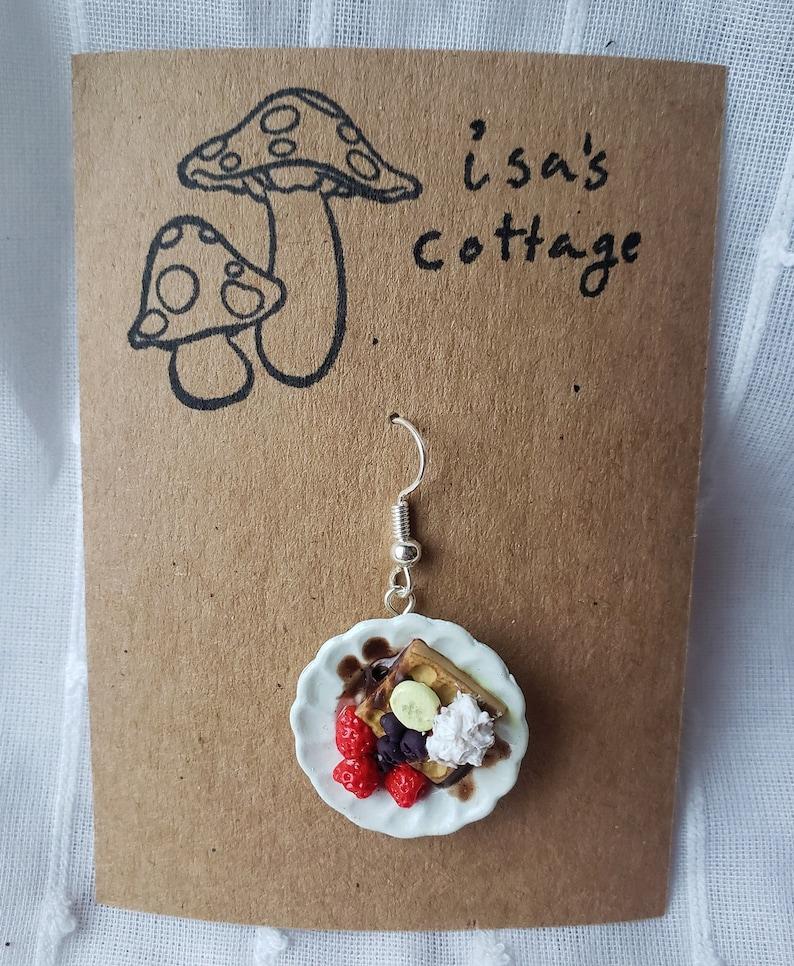 Cottagecore Fruit Waffle Earring