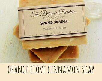Artisan Soap - essential soap - vegan - autumn - orange cinnamon - soap - gift for him