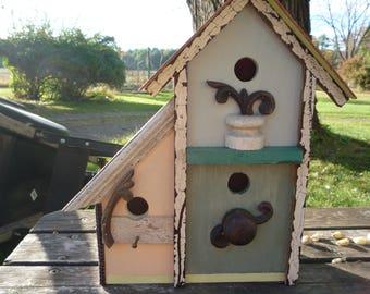 triplex birdhouse