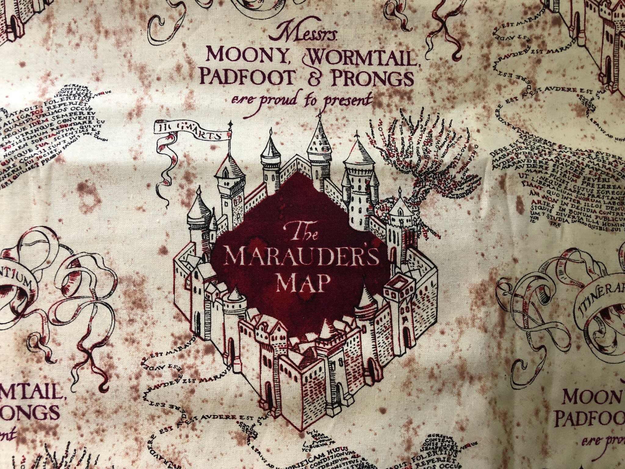 Personalized Harry Potter Hp Maurauders Map Marauders Map Etsy