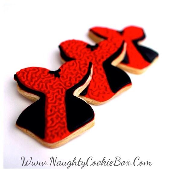 ed5f98f3ee Half Dz. Siren Corset Sugar Cookies. Red and Black Sweetheart
