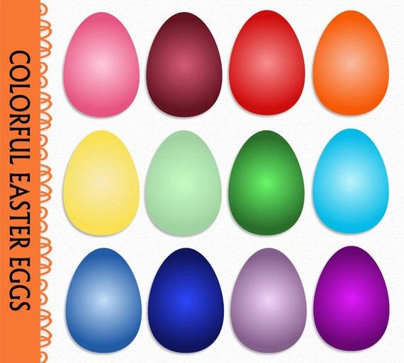 Colored Eggs Clip Art