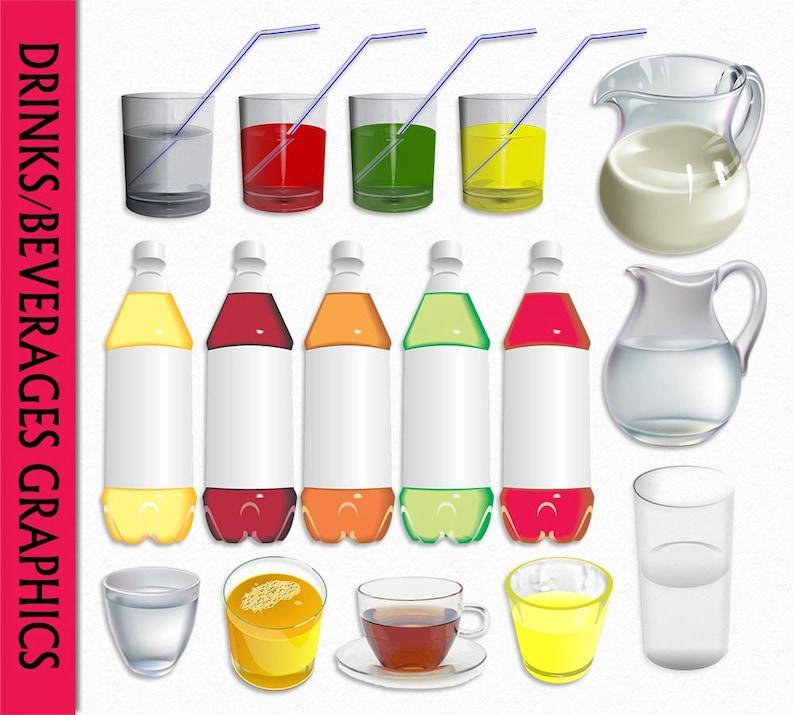 Drinks Clip Art Beverage Graphic Food Clipart Scrapbook ...