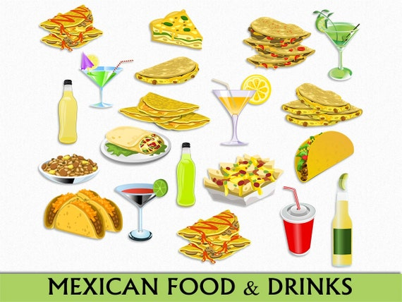 mexican food drinks clip art graphic mexico clipart etsy rh etsy com mexican food pictures clip art mexican food clip art free