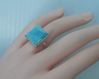 Crazy lace agate ring size 8 with option to resize 92.5 sterling silver