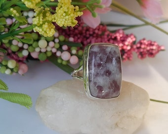 Precise Lepidolite Gemstone 925 Silver Jewelry Adjustable Cuff Easy To Lubricate Jewelry & Watches Bracelets