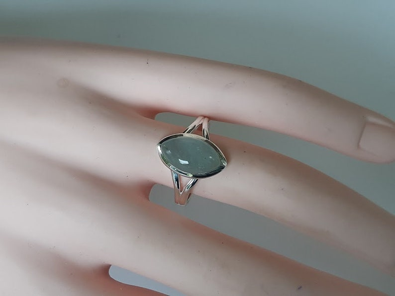 Aquamarine ring marquise  handmade aquamarine ring set in 92.5 sterling silver size 7 and 9 with option to resize