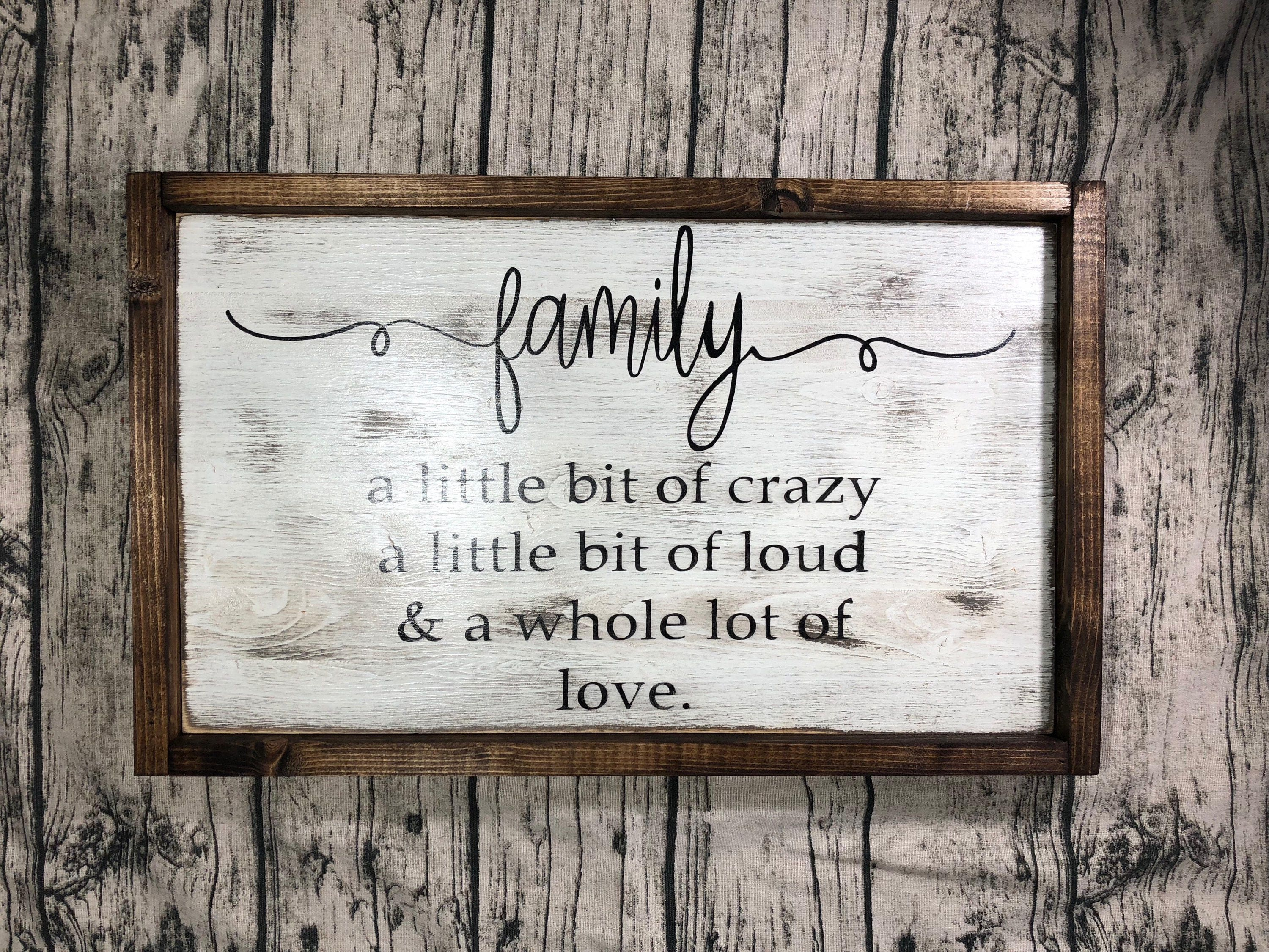 Family Sign Living Room Home Decor Housewarming Christmas Gift