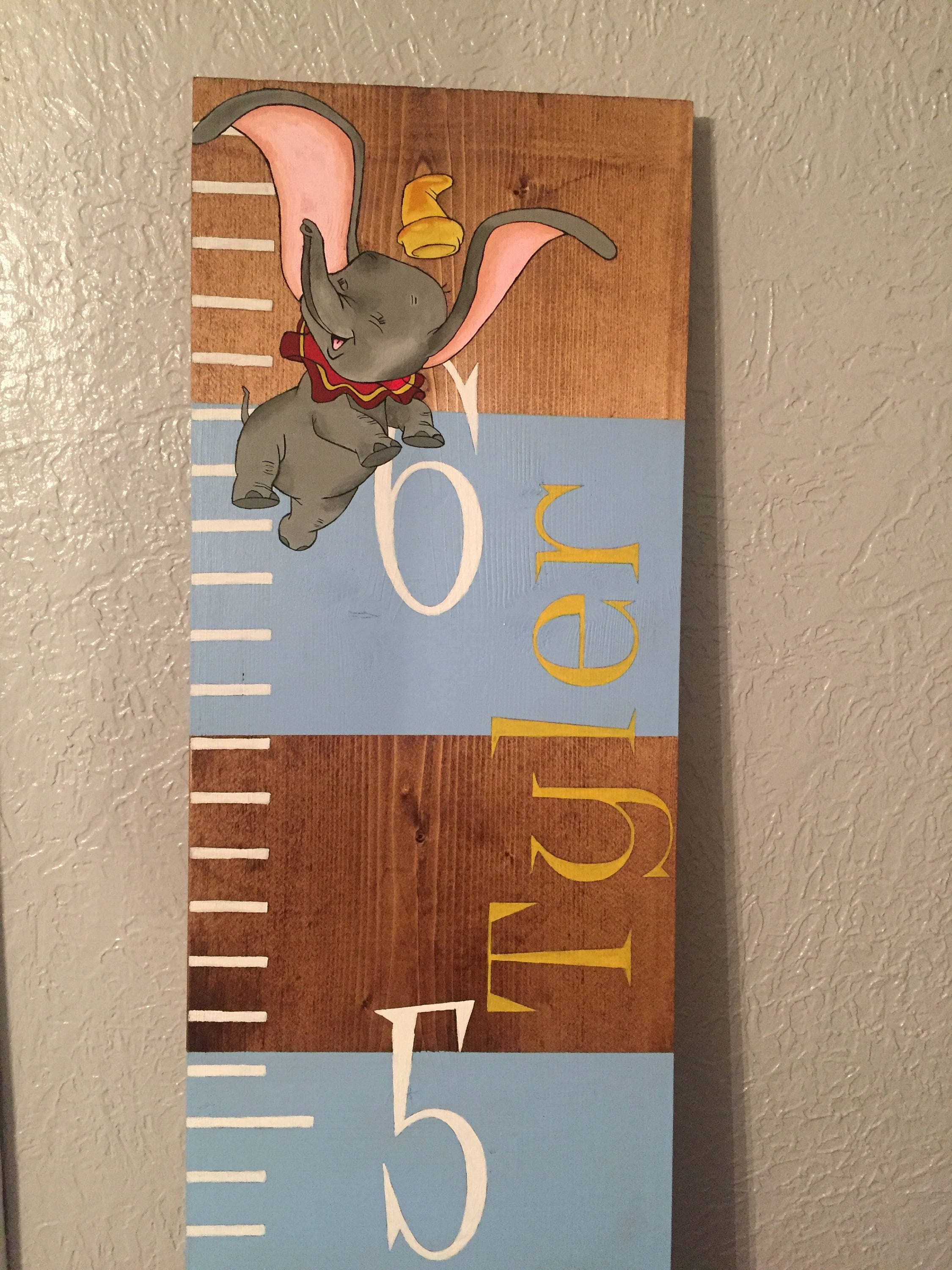Dumbo Personalized Growth Chart Ruler Kinds Room Nursery Gift