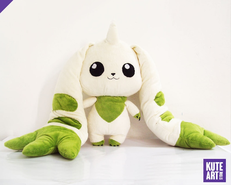 Peluche Terriermon  Digimon / 40 cm or 15.7 in image 0