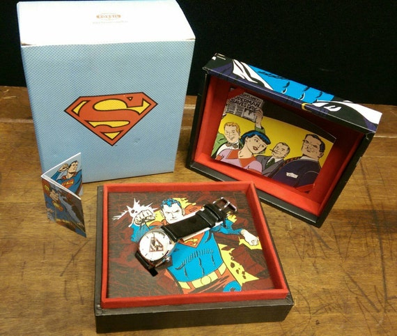 Old new stock fossil superman warner brothers watch etsy freerunsca Choice Image