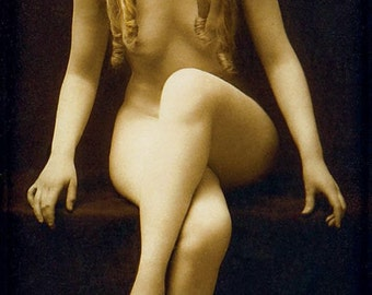 Charles Gilhousen Photo, Untitled Figure with Red Hair, Art Nouveau, 1920s
