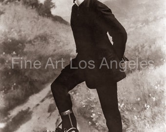 Photo of Young Man on Roller Skates, 1910