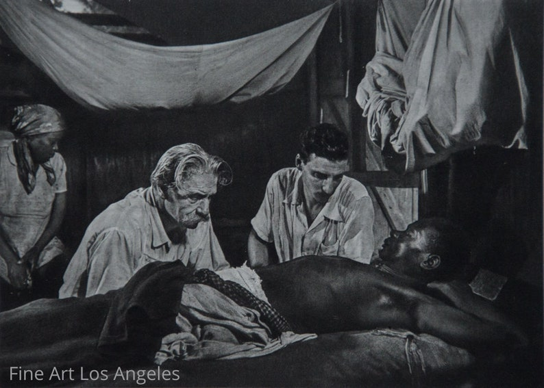 Eugene Smith Albert Schweitzer 1954 photogravure W Dr