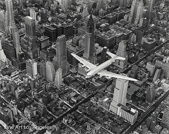 "Margaret Bourke-White Photo ""DC-4 Over Manhattan"" 1939"