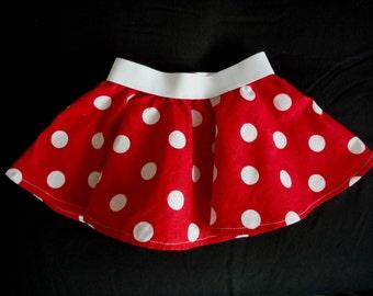 Red polka dot skirt - Polka dot Skirt - Pink or Red  Skirt - newborn-adult skirt - polka dot outfit - polka dot dress - birthday outfit