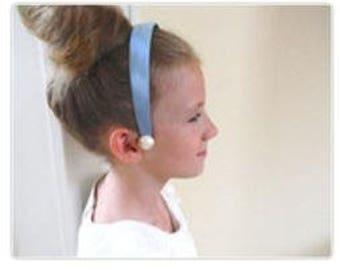Cinderella Headband - Cinderella Costume - Cinderella dress up - Princess headband - Cinderella Birthday - Blue Satin Headband