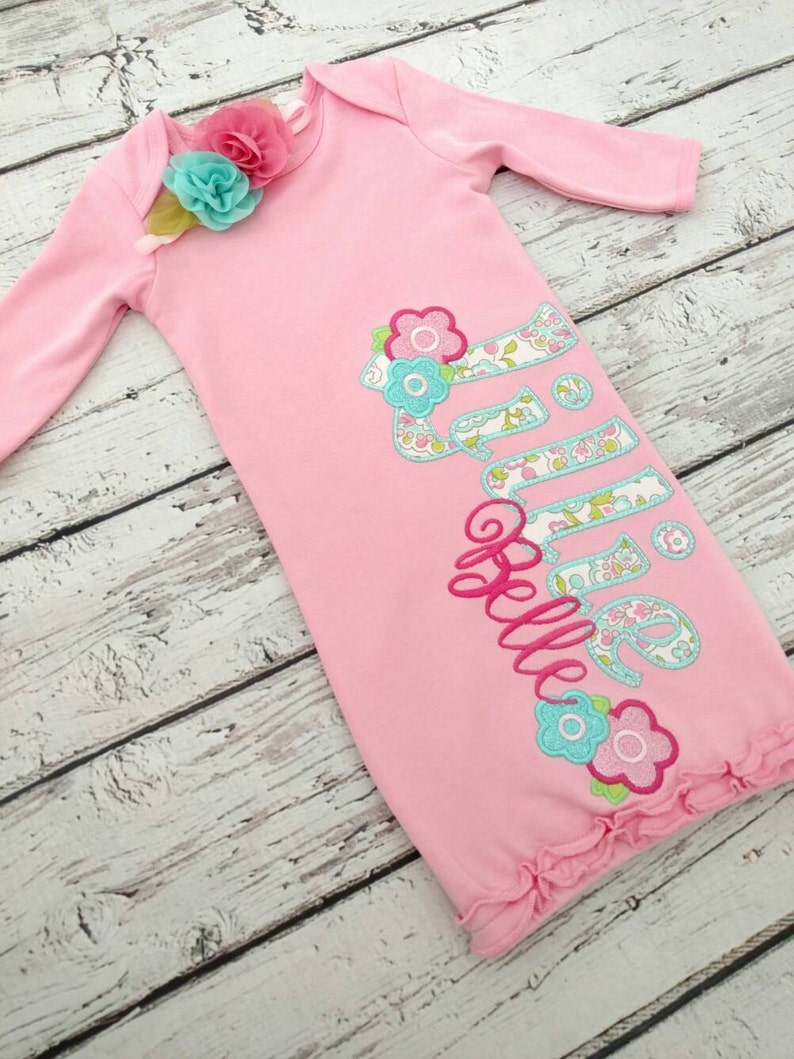 6593ac074d2e8 Baby Girl coming home outfit Girls baby gown newborn girl