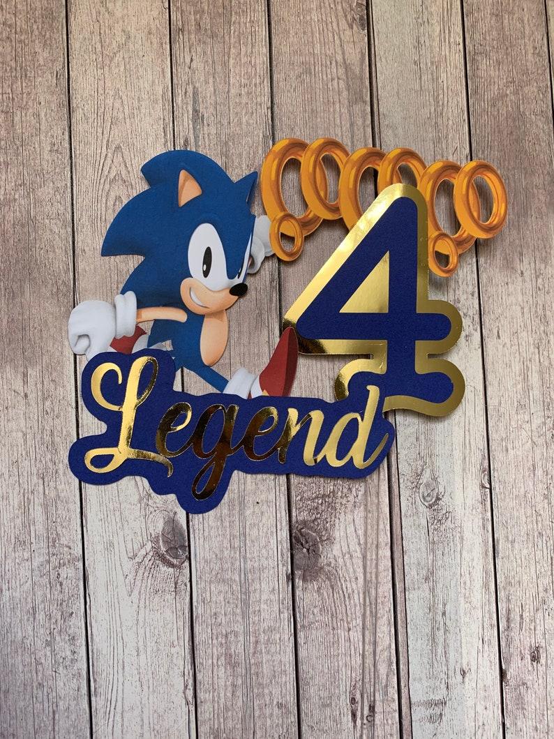 Sonic the Hedgehog Cake Topper