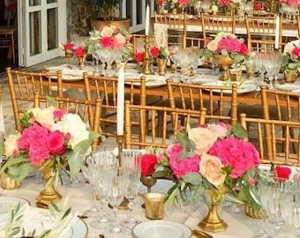 Intricate Goblet Gold Decor Compote Hollywood Wedding Centerpiece Centrepiece Vase Flowers Distress Vase Gold Mercury Glass Antique Vintage