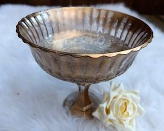 Metallic Bronze Gold Distressed Vase Wedding Alter Centerpiece Centrepiece Glass Floral Vase Gold Wedding Vase Gold Mercury Vase Antique