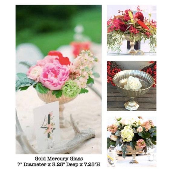 Gold Quecksilber Glas Sockel Vase Blumen Hochzeit Blumen Etsy