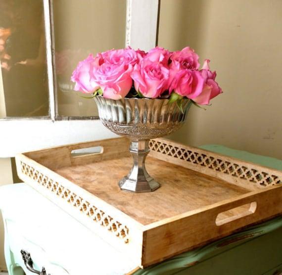 Mercury Glass Vase Wedding Centerpiece Pedestal Vase Silver Etsy