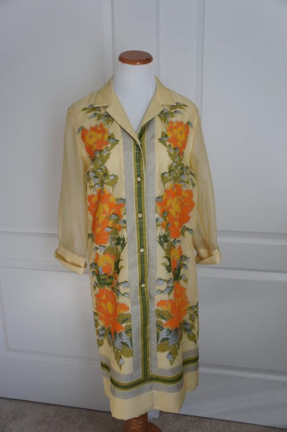 SALE!! Vintage Alfred Shaheen Floral Print Dress