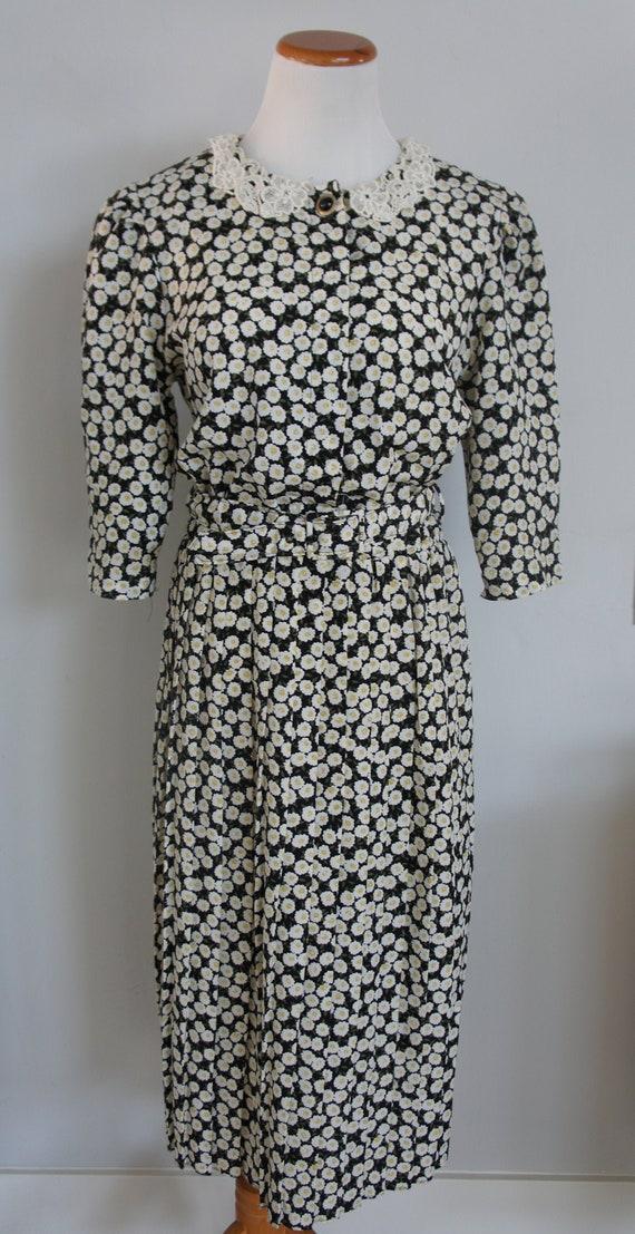Daisy Print Prairie Dress