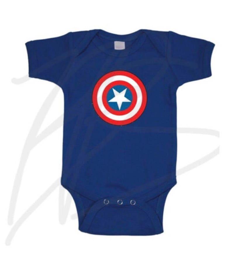 846c184b9ebc Marvel superheros captain america blue shield onesie creeper