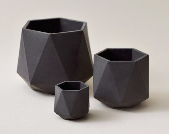 HORTUM SET | Set of 3 Concrete Planters - Plant Pot