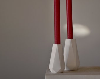 HORTUM CANDLEHOLDER   Concrete Candle Holder - Set of 2