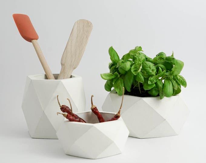 ORE | Concrete Pots - Vases - Planter -  Set of 3