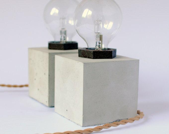CUBUS | Concrete Table Lamp