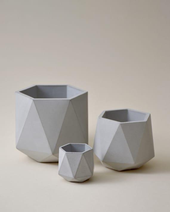 HORTUM SET | Set of 3 Concrete Planters - Plant Pots
