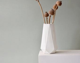 HORTUM VASE   Concrete Flowers Vase - Dried Flowers Vase - 21cm (8 inch)