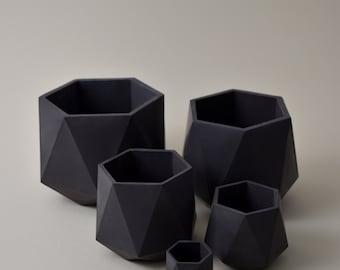 HORTUM FIVE   Set of 5 Concrete planters - Plant Pot