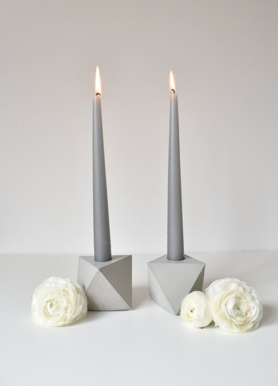 ABSTRACTA | Concrete Candle Holder - Set of 2