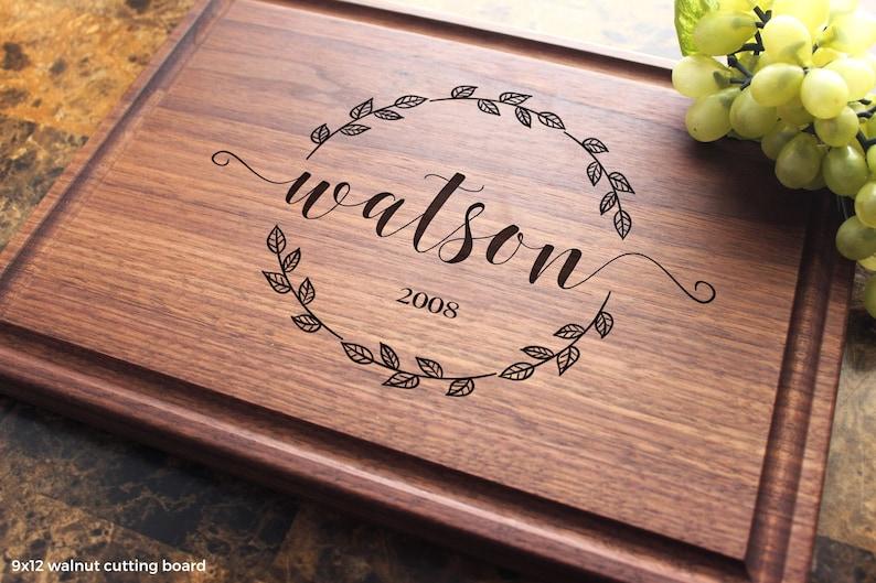 Bridal Shower Housewarming Bride 938 Anniversary Wedding Groom Engagement Personalized Engraved Cutting Board