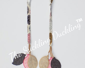 Pre-Order* Embroidered Leaves Reach Straps for Foliage Tula, Pull Straps.