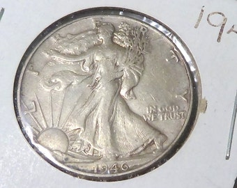 1946 Walking Liberty Half Dollar , Very Fine or Better , 90% Silver